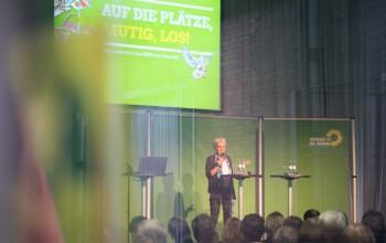 Foto: Ulrike Herrmann bei ihrer Keynote