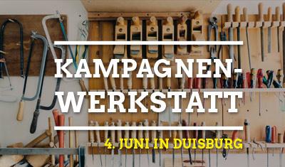 Grüne Kampagnenwerkstatt am 4. Juni in Duisburg