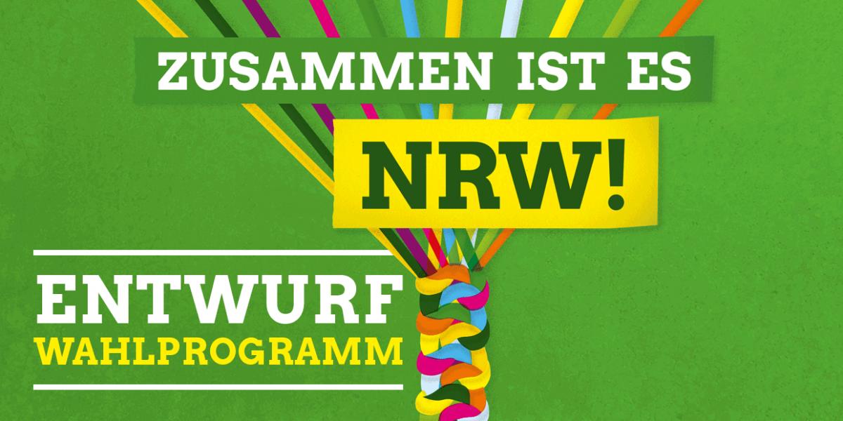 Entwurf des Wahlprogramms zur Landtagswahl 2017 in NRW.
