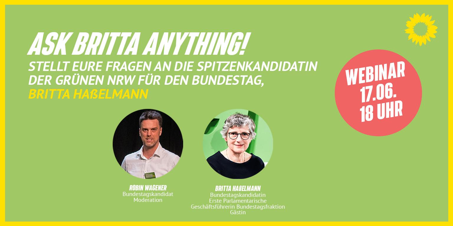 Webinar mit Britta Jetzt anmelden und teilen   GRÜNE NRWGRÜNE NRW