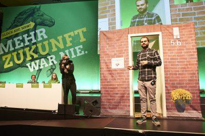Haustürwahlkampf auf dem grünen Parteitag