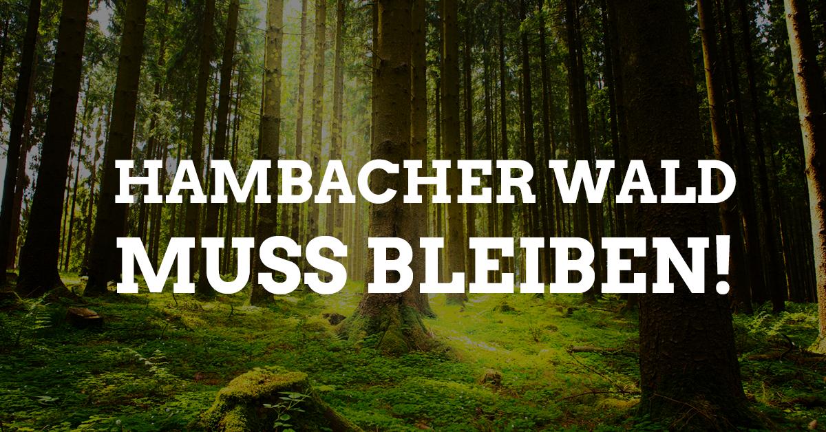 Hambacher Wald muss bleiben!
