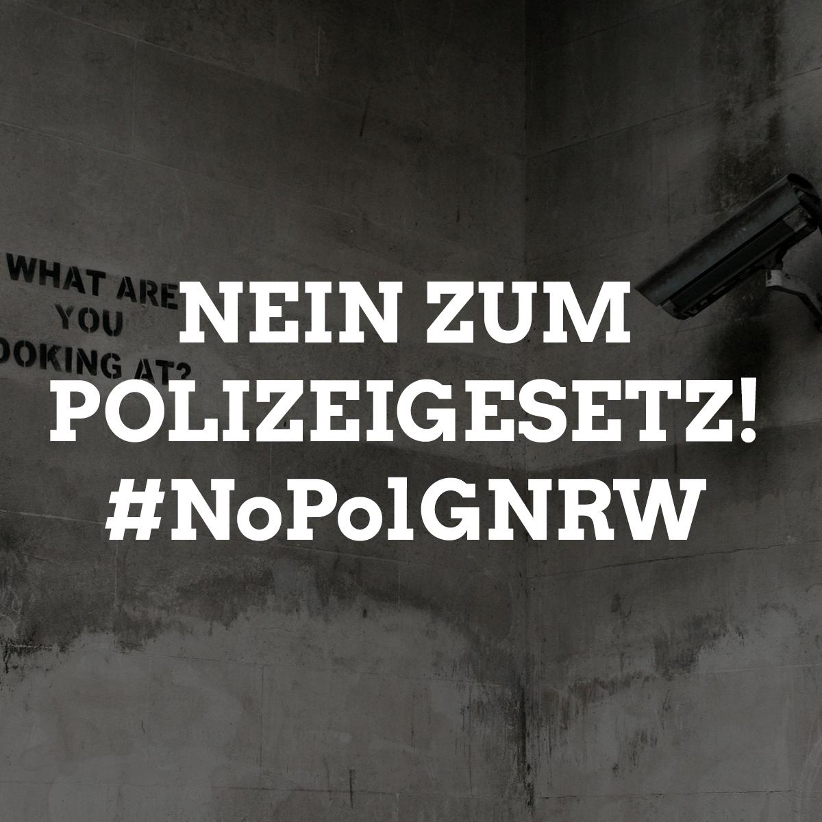Nein zum neuen Polizeigesetz in NRW