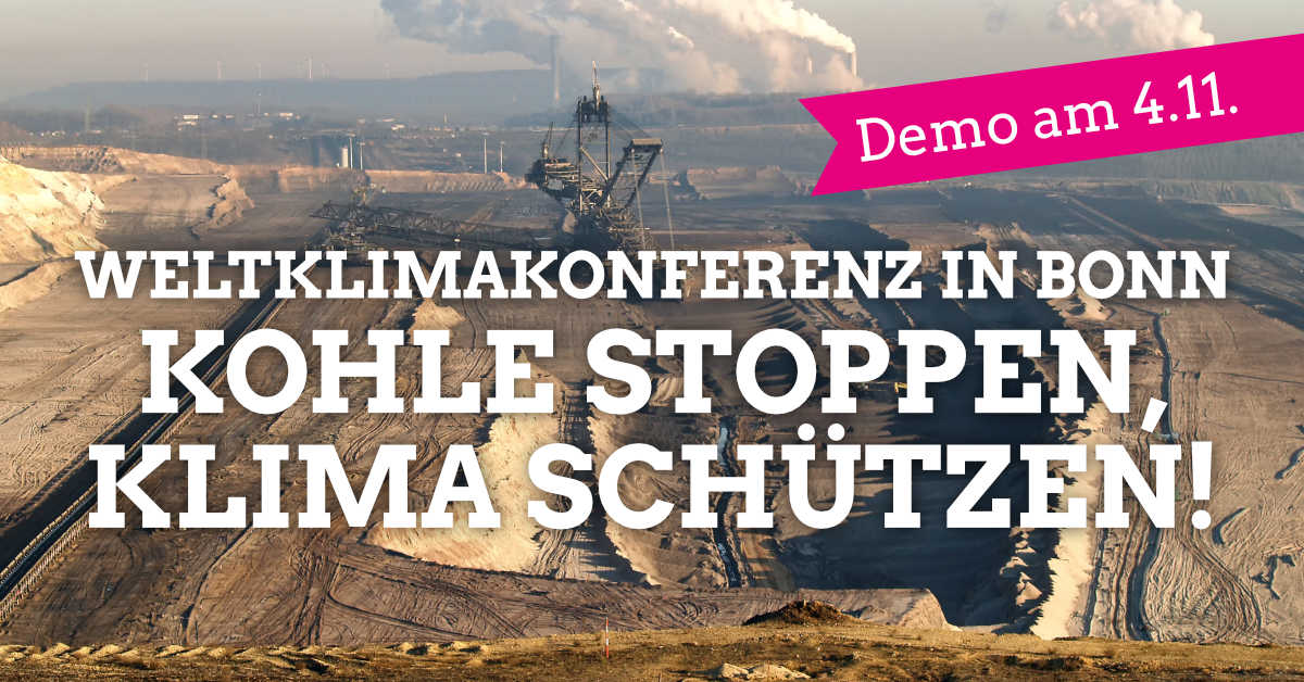 Weltklimakonferenz COP23 in Bonn