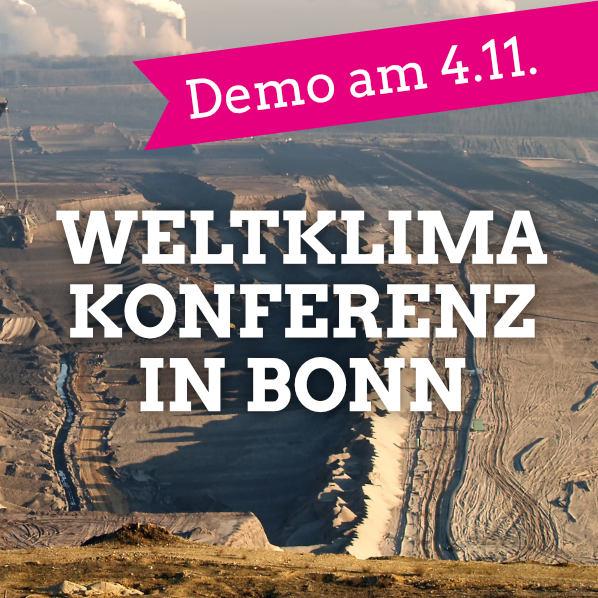 Komm zur Demo fürs Weltklima am 4.11.!