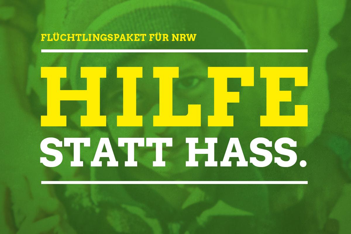 Sharepic: Flüchtlingspaket für NRW