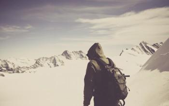 Berge, Wandern, Schnee