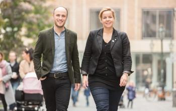 Foto: Die Landesvorsitzenden Sven Lehmann und Mona Neubaur