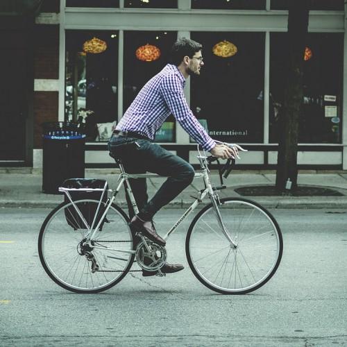 Foto: Fahrradfahren in der Stadt