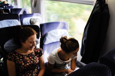 Foto: Auf der Zugfahrt zum Sommercamp