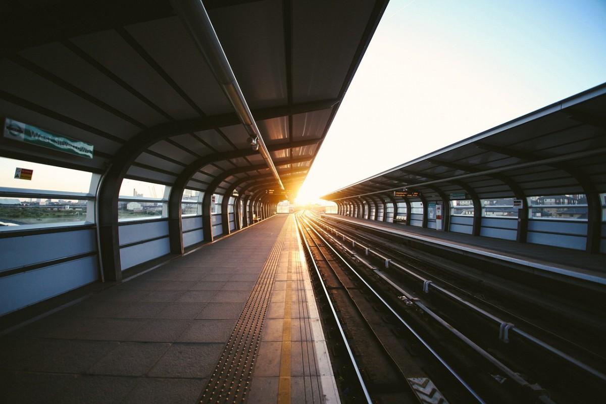 Foto: Haltestelle einer Straßenbahn