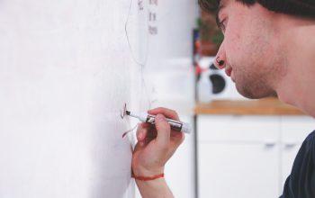 Whiteboard Schule Lehrer Tafel