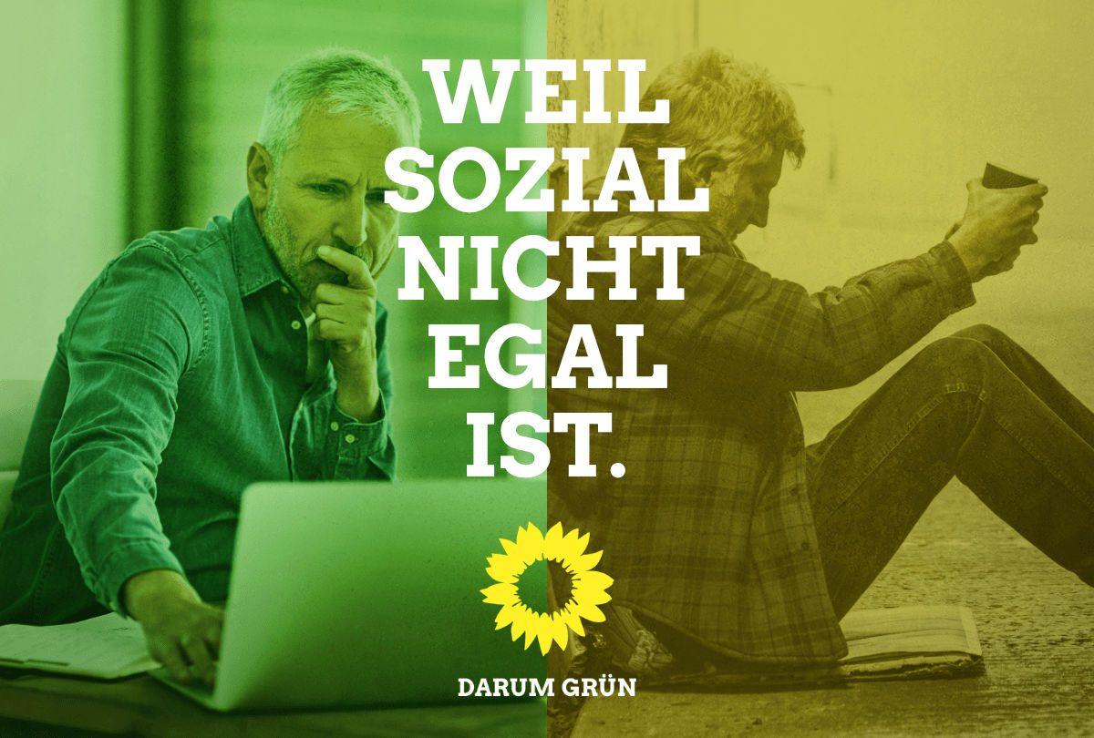 Warum die Grünen und nicht die FDP? Weil Sozial nicht egal ist.