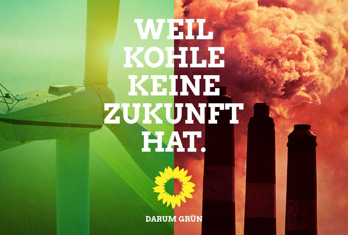 Warum die Grünen und nicht die SPD? Weil Kohle keine Zukunft hat.